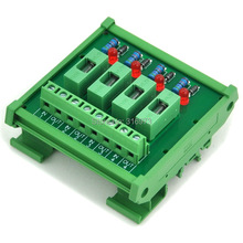 4 Channel Fuse Interface Module, for DC 5~48V, Din Rail Mount, w/ Fail Indicator