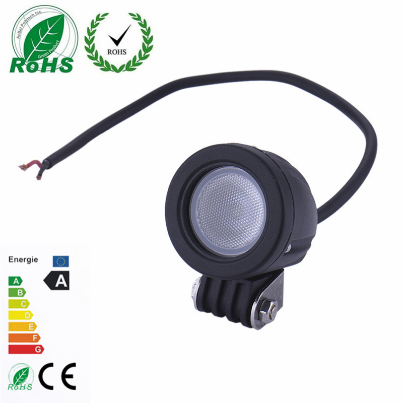 Motorcycle Fog Light Auxiliary Lamp 10W Aluminium LED Motors Headlight  Driving Lamp Off-road Truck Spot Light 10-30V Round high quality 10w led spot work light 12v 24v car auto fog lamp motorcycle truck headlight