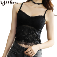 Female spring and summer sexy bottoming wear inside wrapped chest top lace camisole girl section