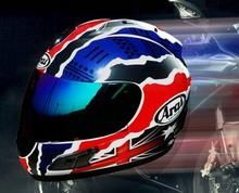 Arai Arai special red and blue helmet full face motorcycle for free shipping