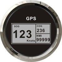 1 шт. высокое качество лодка авто двигатель дома универсальный CCSB 85 мм Цифровой GPS Спидометр 12 В/24 В с спидометр с антенной черный