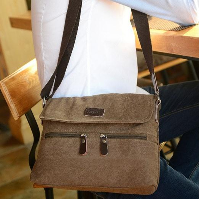Canvas men bag Leisure Shoulder Messenger Bag ArmyGreen, khaki, black, brown Men 's handbags pose tas Free shipping free shipping 2014 boom bag leisure contracted one shoulder bag chain canvas bag