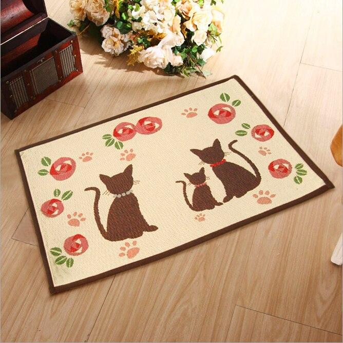 simple style mat Non-slip mats carpet mats Korean carpet mats doormat kitchen D100006# CAT