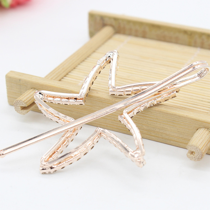 Купить с кэшбэком Fashion Lovely hairpin Simple Small Braider Hair trim alloy hair clips Love Star Tree Flower type