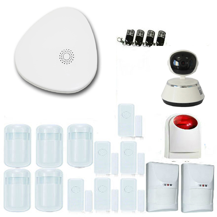Yobang Security Smart Wireless Wifi Home Security Alarm System Intercom Outdoor Waterproof Solar Siren Android IOS APP Control