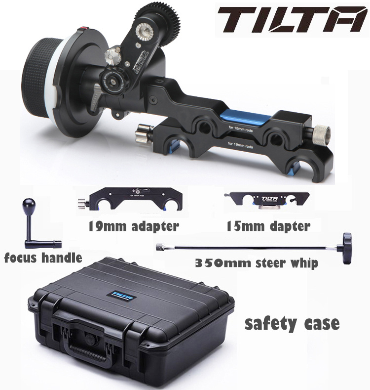 TILTA Single sided Cine Lens Follow Focus Kit FF T05 with 15mm 19mm Rod Adapter for
