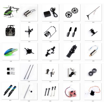 цена на Wltoys RC Helicopter Spare Parts Kit V911S 4CH Helicopter Accessories Blades/Motor/Receiver/servo/Principal Axis for V966 V988