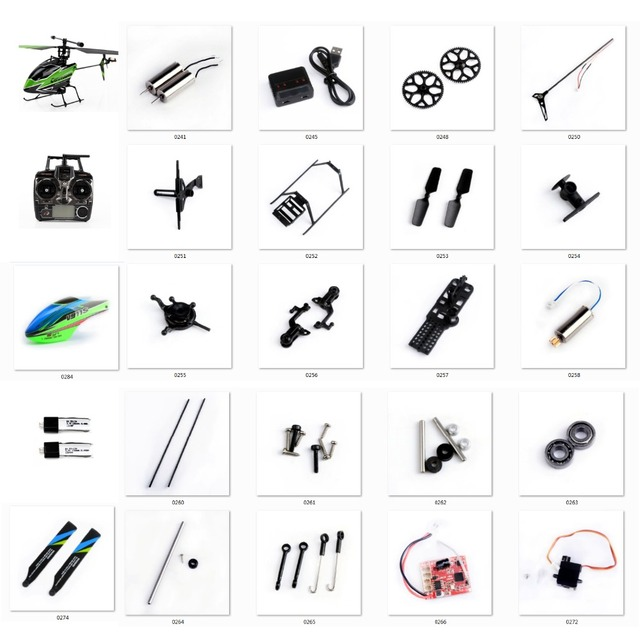 Wltoys RC Helicopter Spare Parts Kit V911S 4CH Helicopter Accessories Blades/Motor/Receiver/servo/Principal Axis for V966 V988