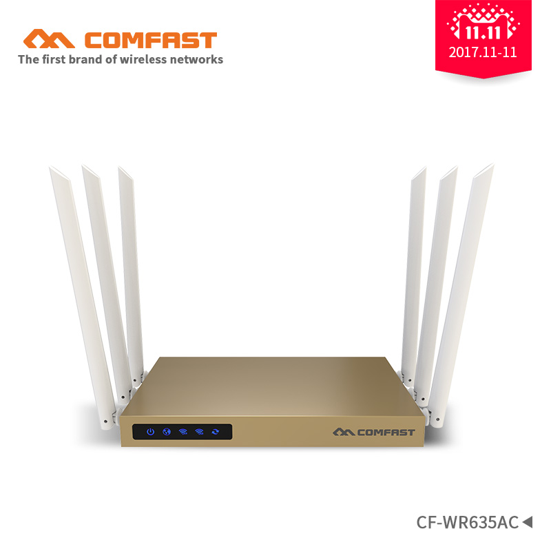 COMFAST 2.4Ghz+5.8G 750Mbps Dual Band 802.11ac wireless wifi router repeator with 6*6dBi WI-FI antenna high power wi fi router new tp link wdr7400 1750mbps 11ac 6 antenna fast wifi extender wireless dual band router for home computer networking