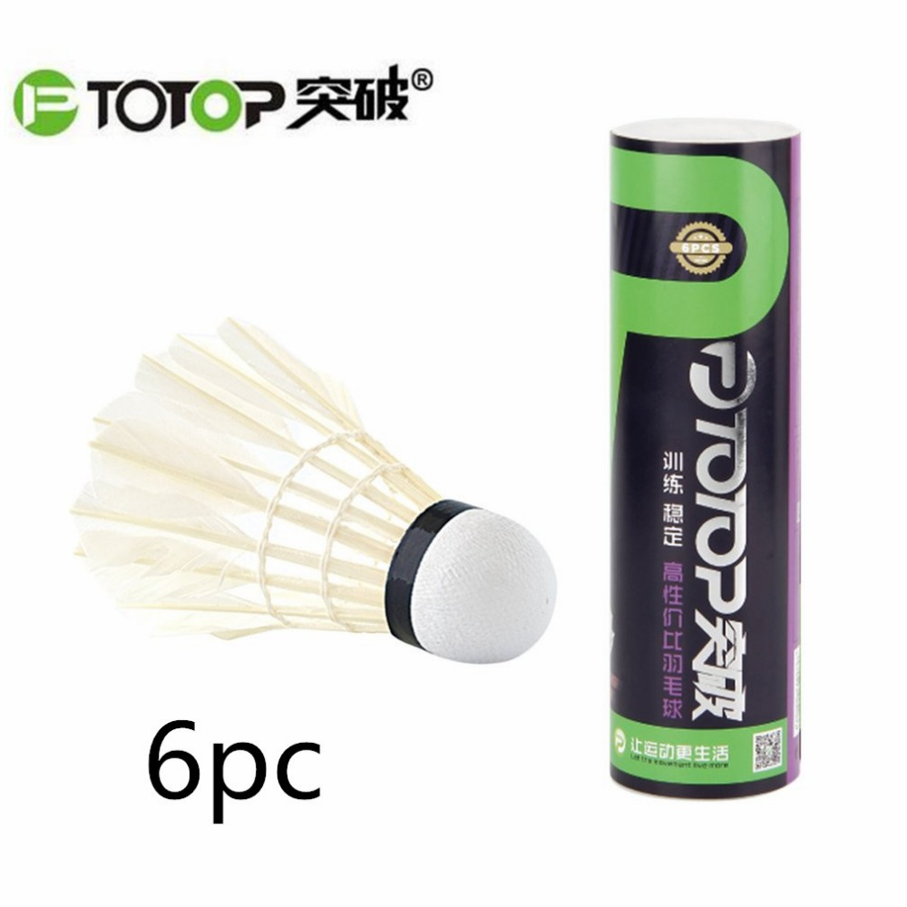 PTOTOP Natural Goose Feather Badminton Training Ball Indoor Outdoor Sport Entertainment Badminton Shuttlecocks Ball Hot Sale