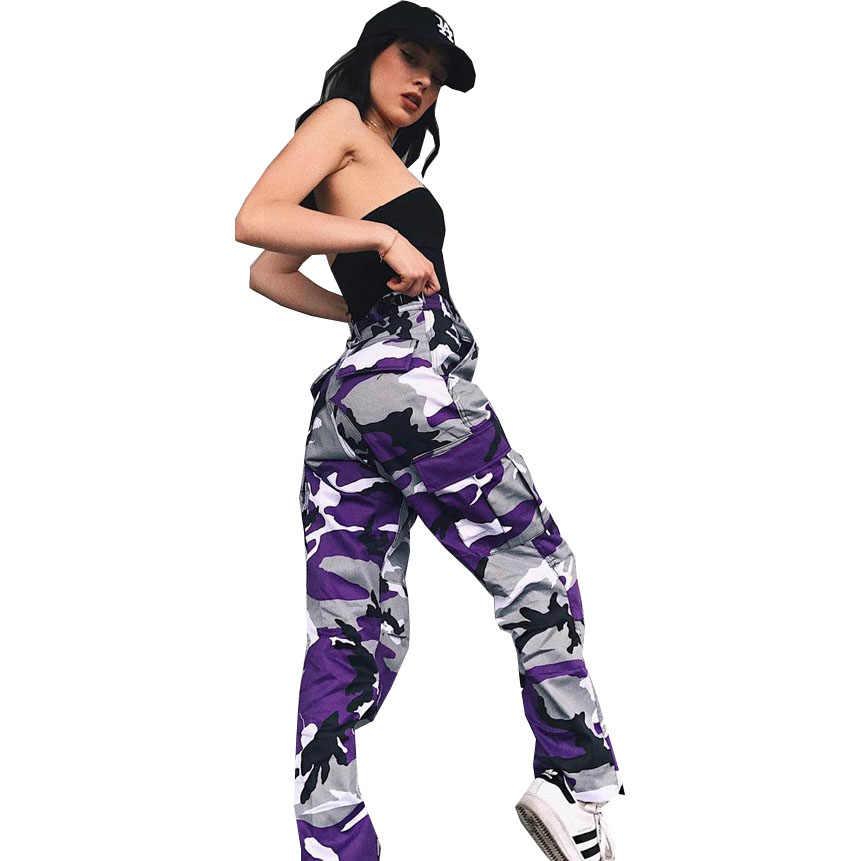 新パンツ女性 2020 新着ホット秋緩いカウボーイ迷彩レジャープリント卸売ドロップシッピング WSP7240