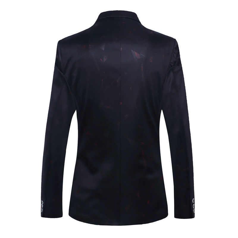 メンズファッションブランドブレザー英国のスタイルスリムフィットスーツジャケットビジネス宴会ウェディングドレスブレザーコート衣装 Veste オム