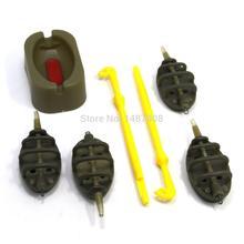 SAMS Carp Fishing Tackle Inline Method Feeder w/ Mould Cap Leaded and Sinker Weight Easy Loop Tyer Tool Fishing Hook Accessories