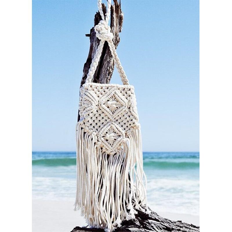 Handmade Rope Woven Tassel Bag 2