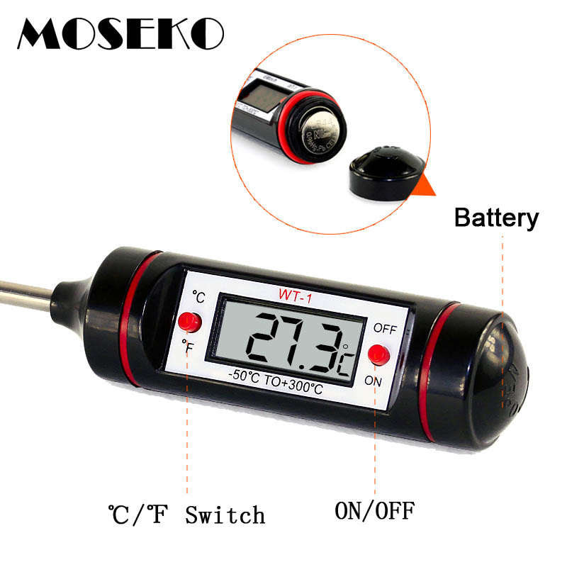 Image 4 - MOSEKO Portable Digital Kitchen Thermometer BBQ Meat Water Oil 