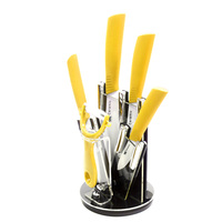 XYj Hot Brand Cooking Tools Zirconia Yellow Handle Ceramic Knife Set 3 4 5 6 Inch