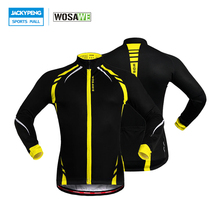 WOSAWE Thermal Cycling Jacket Winter Warm Up Bicycle Clothing Windproof Waterproof Soft shell Coat MTB Jersey Reflective