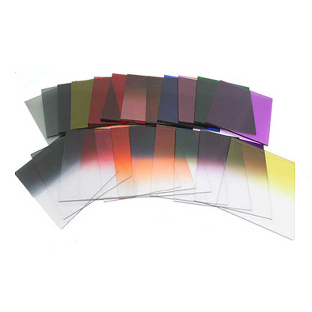 25 in 1 สีตัวกรอง ND Neutral Density Gradient Neutral Density Gradual Filter สำหรับ Nikon Canon