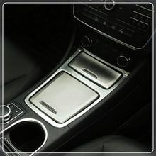 Для Mercedes Benz класс 2012-2017/gla cla 2013-2017 автомобилей Подлокотник ящик для хранения крышка и пепельница покрытие отделкой стайлинга автомобилей