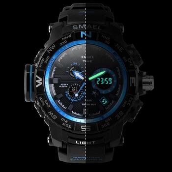Orange Sport  Watch SMAEL Brand Watches LED Digital Wristwach Multi-functional Men Clock Led Stopwatch 1531 S Shock Sport Watch
