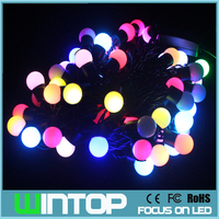 5m 50leds LED Ball String Light Black Wire Outdoor Holiday Fairy Lights Garlands RGB White Warm