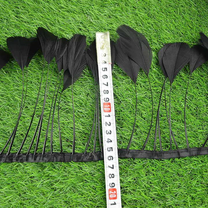 공장 판매 10 메터/몫 박탈 거위 깃털 변두리 10-15 cm 4-6 인치 너비 긴 거위 깃털 테이프 공예 모자