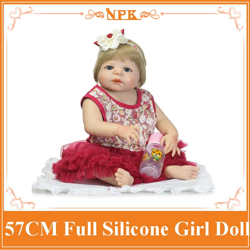 Super Fashion All Non-toxic Silicone Reborn Baby Doll With High Class Summer Style Dress Good Price Bonecas Baby Alive As Gift all summer long