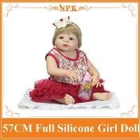 Super Mode Alle ungiftig Silikon Reborn Baby Doll Mit Hoher klasse Sommer Stil Kleid Gute Preis Bonecas Baby Lebendig Wie geschenk