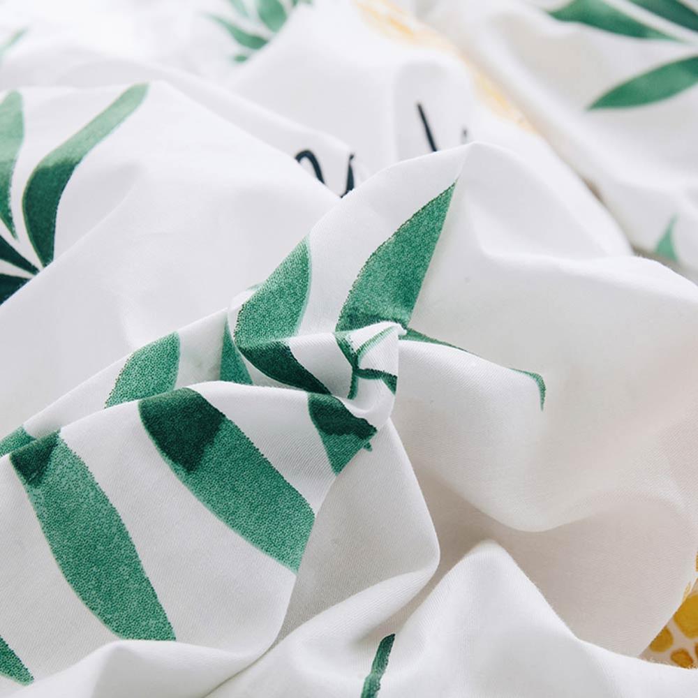 2019 Verde Foglie di Colore Giallo Ananas Copripiumino Twin Set Queen King Size Biancheria Da Letto In Cotone Set Piatto Copriletto Farmi Deliziare Copriletto-in Completi letto da Casa e giardino su  Gruppo 2