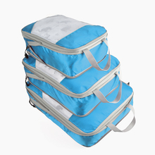 QINYIN Large Capacity Of Unisex Clothing Sorting Organize Bag Nylon Packing Cube Travel System Durable 3 Pieces One Set