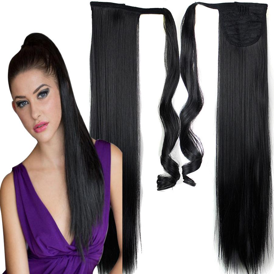 ponytail fake hair extensions false