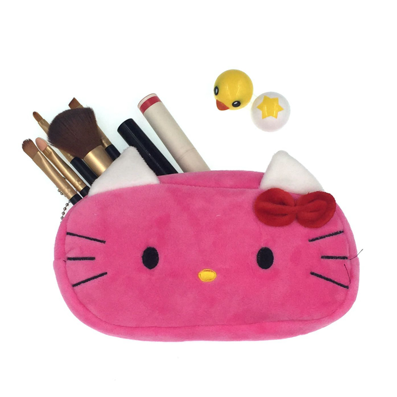 Cartoon Plush Hello Kitty Cosmetic Bag Women Travel Makeup Case Zipper Make Up Bags Storage Pouch Toiletry Kit Wash Beauty BoxCartoon Plush Hello Kitty Cosmetic Bag Women Travel Makeup Case Zipper Make Up Bags Storage Pouch Toiletry Kit Wash Beauty Box