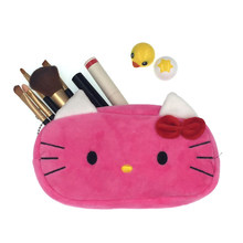 47c443fa326f Cartoon Plush Hello Kitty Cosmetic Bag Women Travel Makeup Case Zipper Make  Up Bags Storage Pouch Toiletry Kit Wash Beauty Box