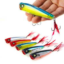 Runature Fishing Popper Lures Artificial Hard Bait 85mm/15g Wobbler Top Water Lure Crankbaits Tackle