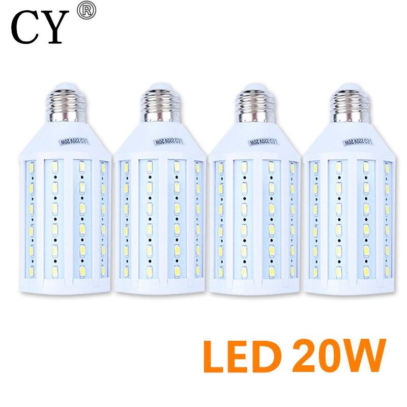 New 4Pcs E27 220v Photo Studio Bulb 20W 5730 SMD LED Video Light Corn Lamp Bulb & Tubes Photographic Lighting