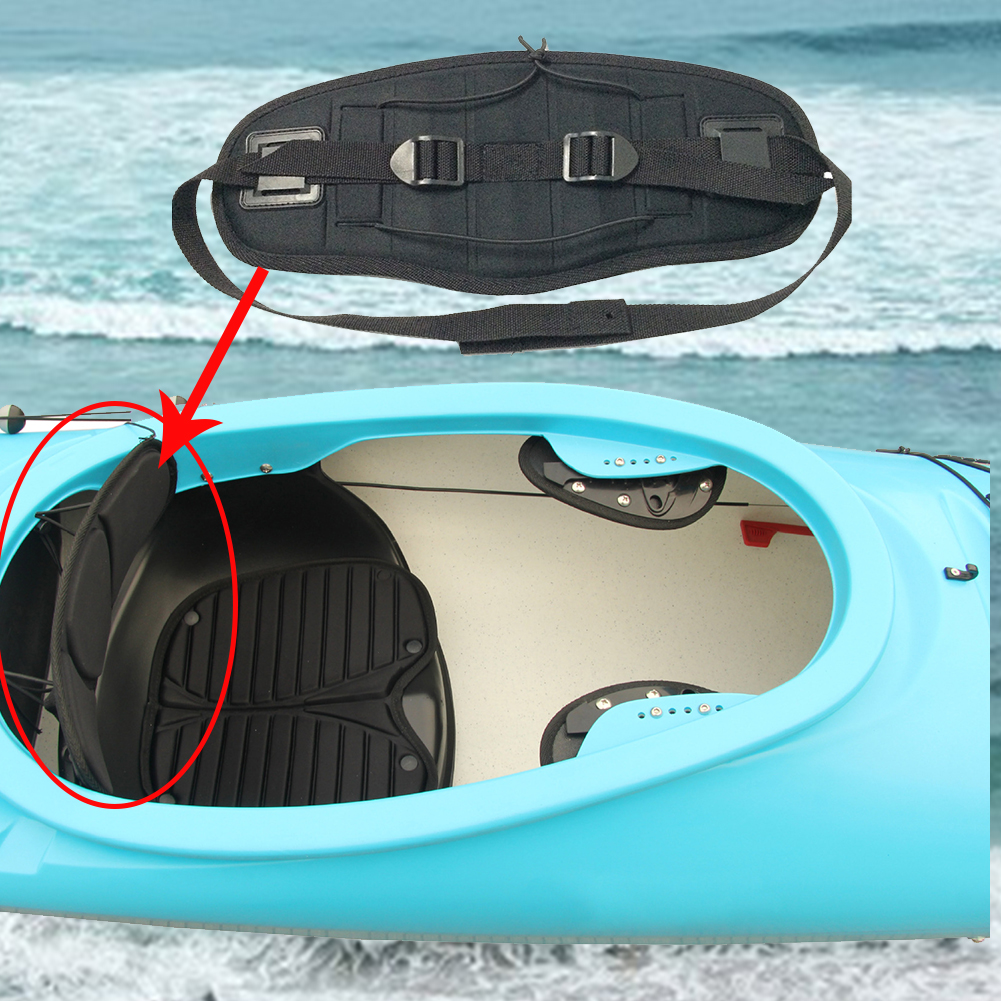 Canoeing Men Women Support Water Sports Kayak Seat Back Antiskid Band Adjustable Cushiony Surfing Sit On Top Accessories Pad