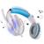 IMice Wired Auriculares Auriculares Gaming Headset Gamer Con Sonido Estéreo de Micrófono Ajustable Para Portátil Ordenador LOL Juego