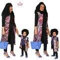 2017 nueva primavera de la moda familia ropa matching marca ropa de la familia establece familia madre e hijo bebé ropa africana brwy828