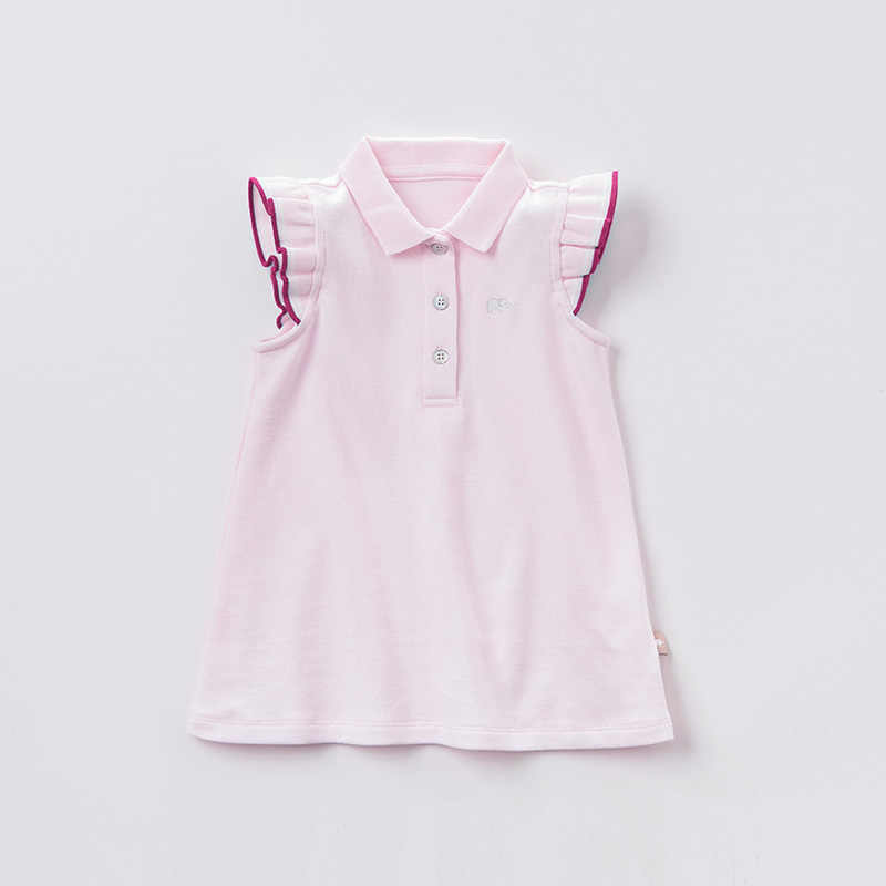 DB10420 dave bella summer baby girl's princess cute ruched dress children party wedding dress kids infant lolital clothes
