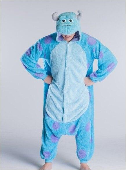 8131513381a8 New Adult Unisex Purple Dot Sulley Monsters Inc. Fashion Pajamas Onesies  Cute Cartoon Cosplay Pyjama Free Shipping