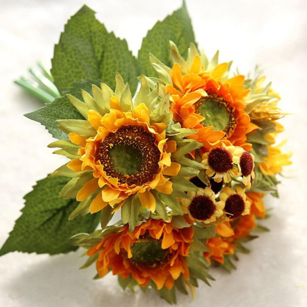 bouquet de fleurs artificielles décorations pour la maison 5 têtes