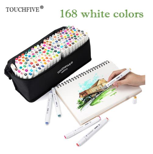 168 colors Double Headed Art markers set designers art mark pen Alcohol paint Marker pen manga cartoon graffiti sketch 80 colors painting art marker pen alcohol marker pen cartoon graffiti dual headed sketch markers set art supplies black white