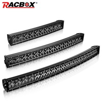 RACBOX 5D 22 32 42 Inch Curved LED Light Bar 200W 300W 400W Combo Beam Black Lens LED Work Light DRL For OffRoad ATV SUV 12V 24V