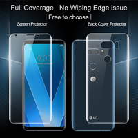 SFor LG V30 Screen Protector IMAK 3D Full Cover 2PCS Front 2PCS Back Soft Hydrogel Screen