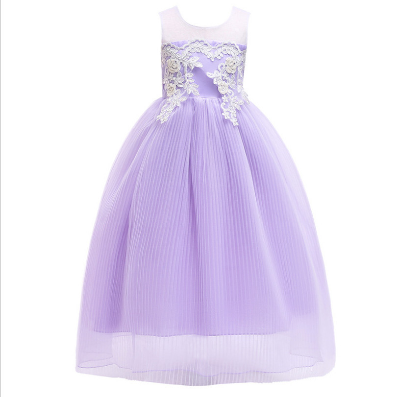 Kids Lace Wedding Dress 2019 New Girl Party Dresses Fashion High-grade Children Wedding Dress Sweet Girls Pageant Dresses