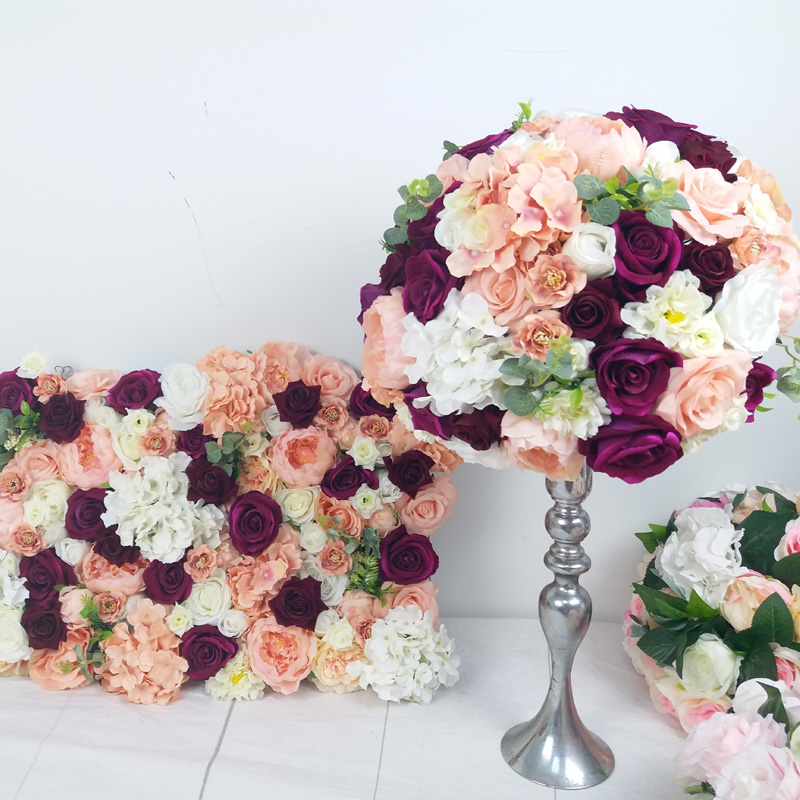 SPR customized 3D flower wall and  table centerpiece flower ball artificial flower decoration for event occasion-in Artificial & Dried Flowers from Home & Garden    1