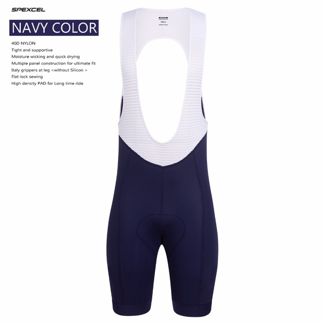 Finally Arrive SPEXCEL Navy travel Cycling Bib Shorts Best Quality Cycling Bottom With Italy Grippers Leg End bicycle clothes