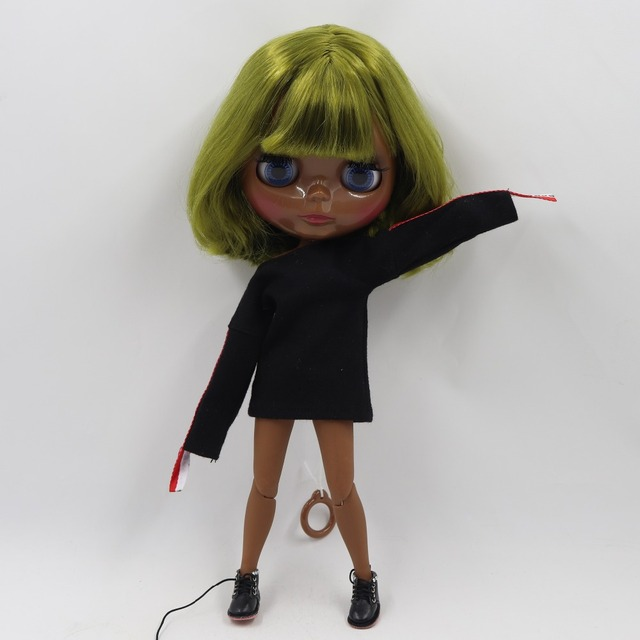 TBL Neo Blythe Doll Short Green Hair Jointed Body