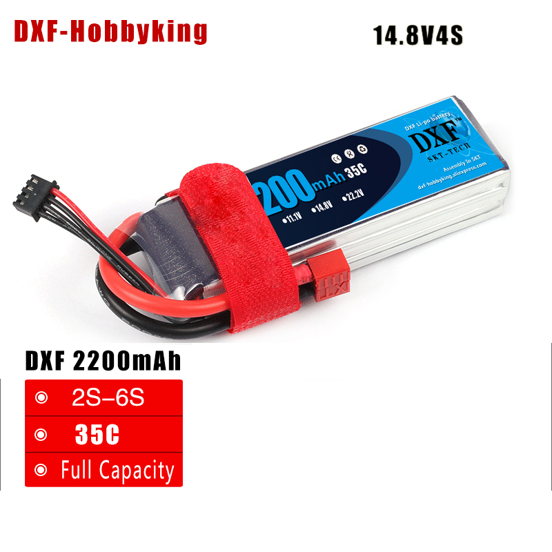 2017 DXF 4S RC lipo battery <font><b>14.8v</b></font> <font><b>2200mAh</b></font> 35C max 60C For rc helicopter rc car rc boat quadcopter Li-Polymer batteria image