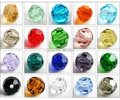 Free Shipping 200pcs 72-104 6mm Crystal Round Beads 5000 glass faced Beads craft Accessories for jewelry